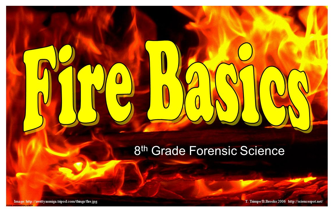 8 th Grade Forensic Science Image: http://awittyassniga.tripod.com/things/fire.jpgT.