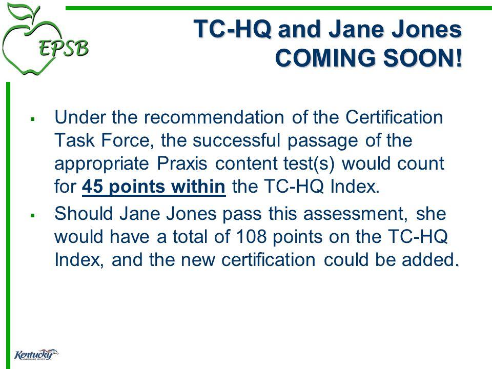 TC-HQ and Jane Jones COMING SOON.