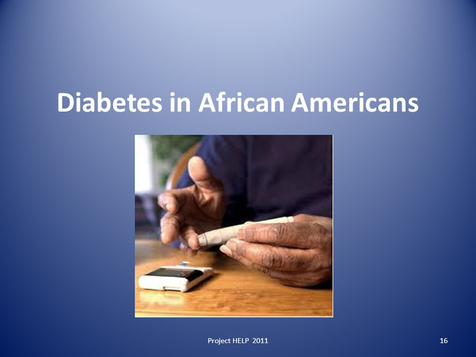 Diabetes in African Americans Project HELP 201116
