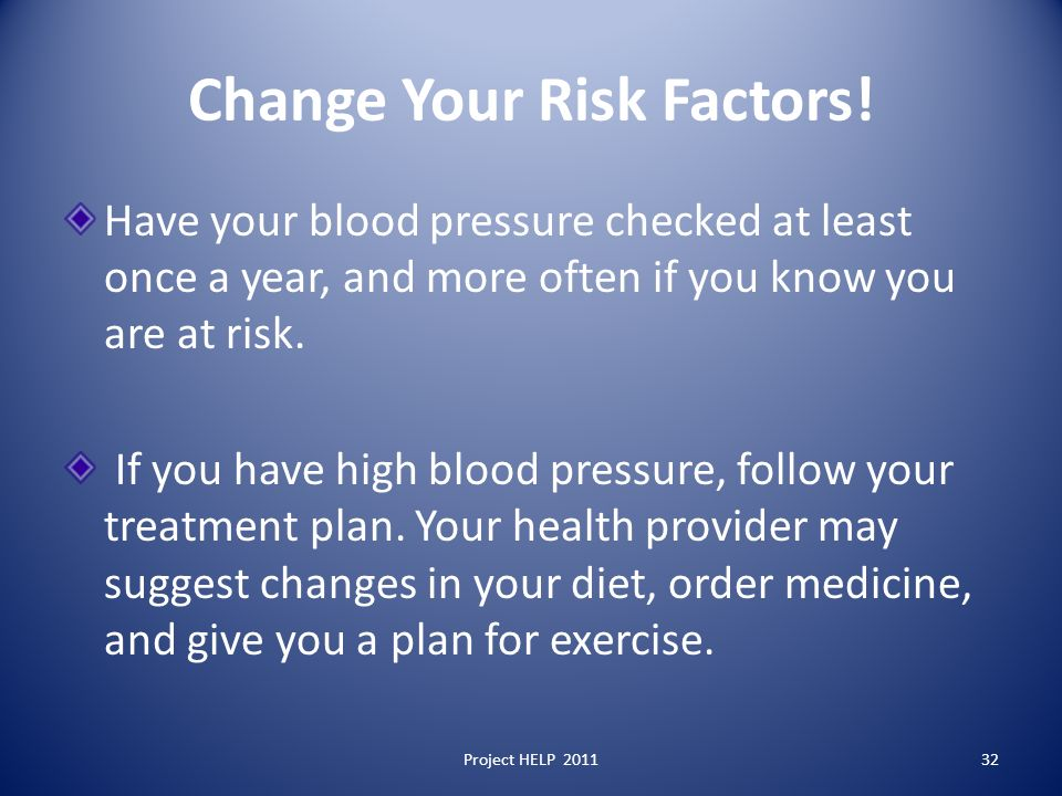 Change Your Risk Factors.