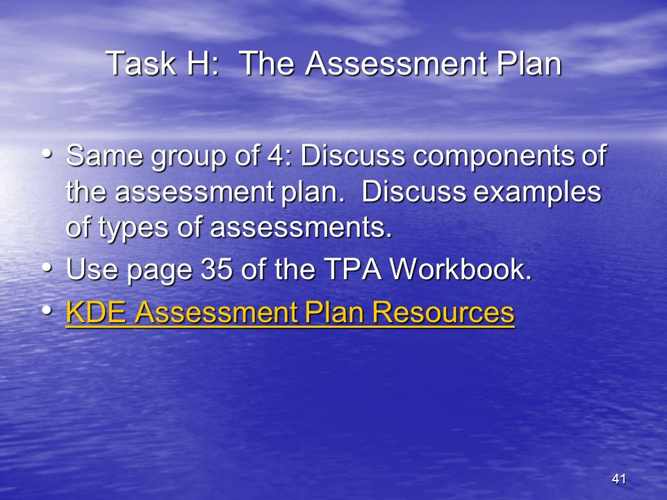 42 Task I: Designing Instructional Strategies and Activities Question: When does the intern begin this task.