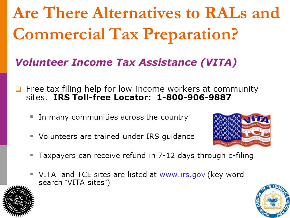 25 Are There Alternatives to RALs and Commercial Tax Preparation.