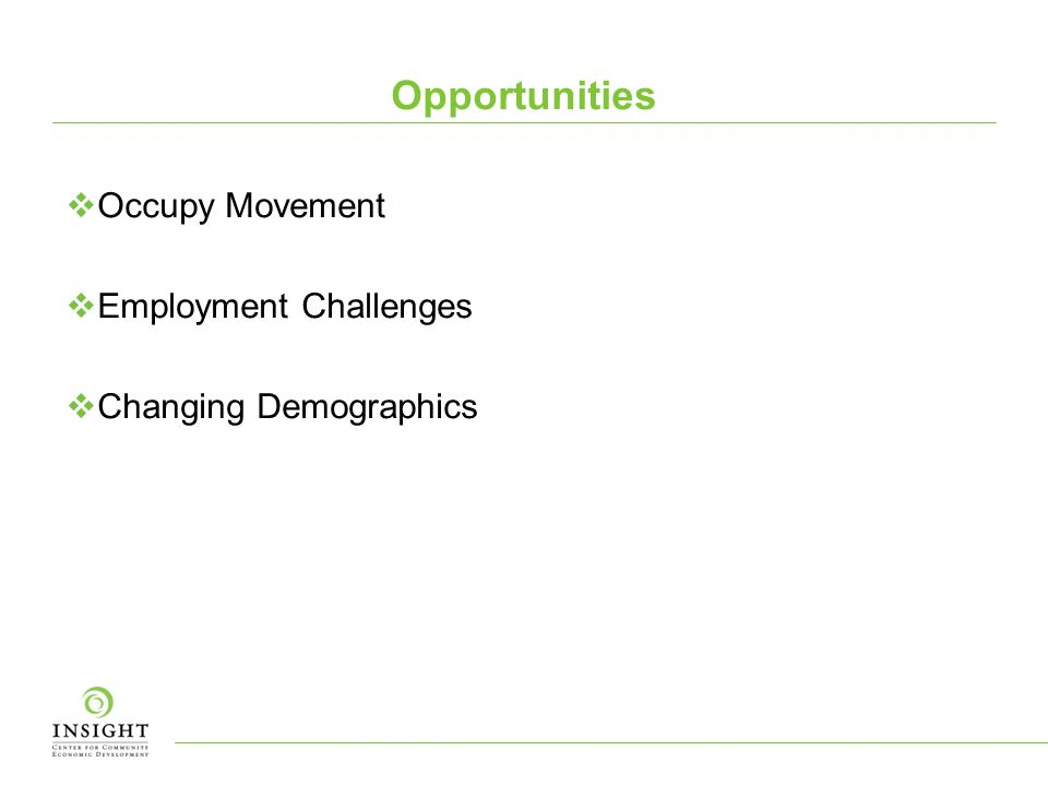 Opportunities Occupy Movement Employment Challenges Changing Demographics