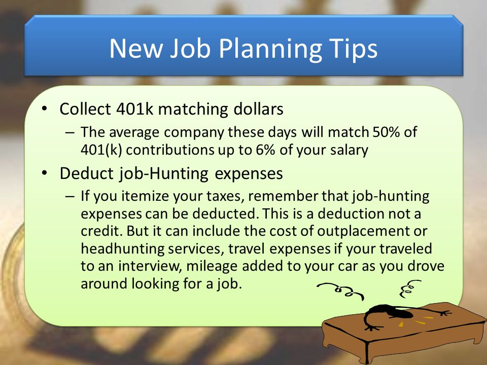 New Job Planning Tips