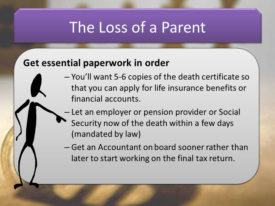 The Loss of a Parent