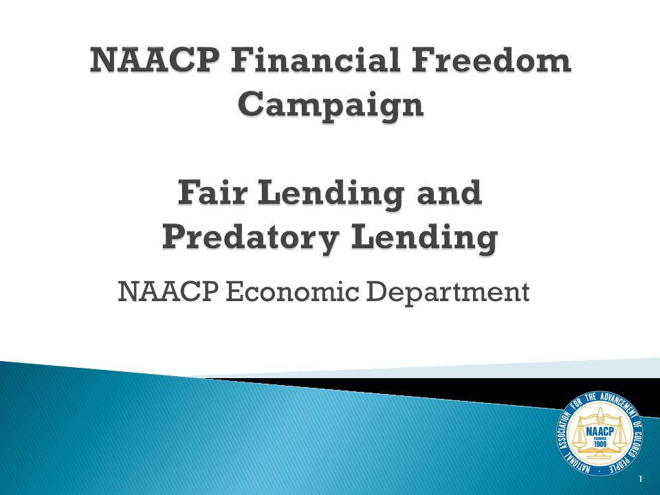 Our Current Financial Picture Mortgage Lending (Basics and History) What is Predatory Lending.