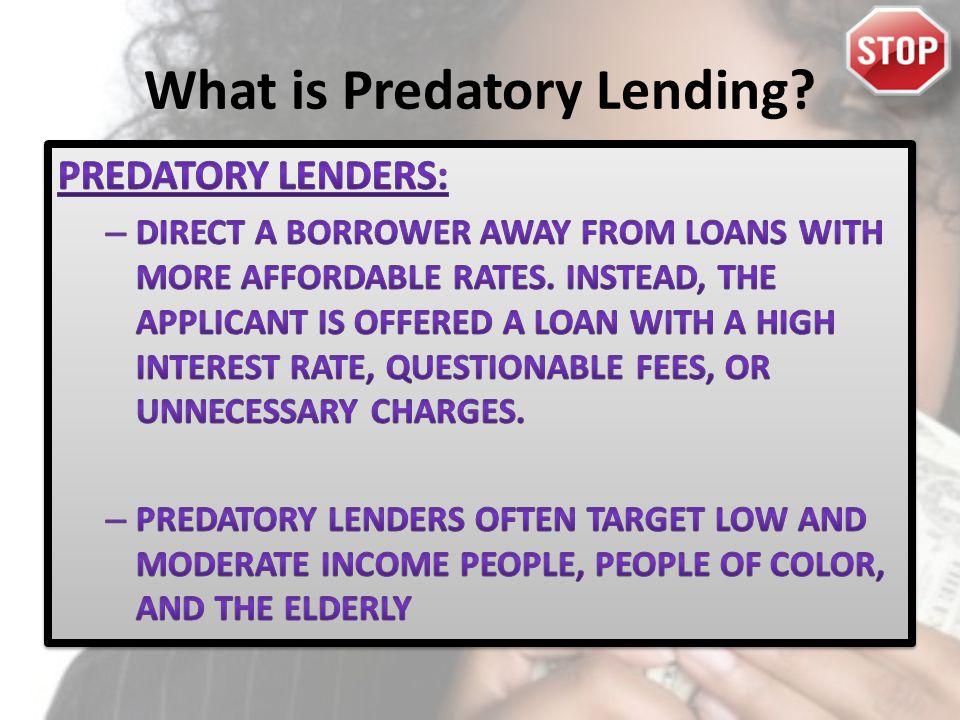 What is Predatory Lending?