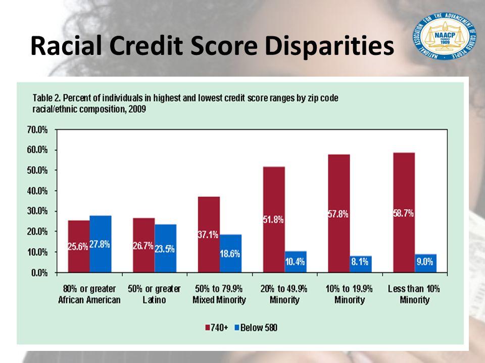 Racial Credit Score Disparities