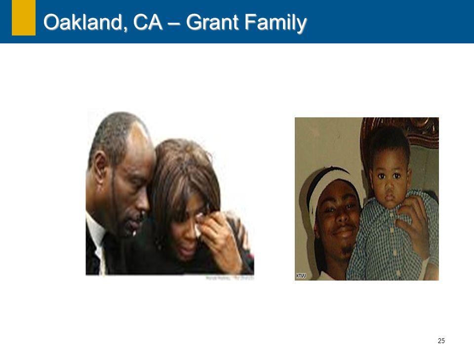 25 Oakland, CA – Grant Family