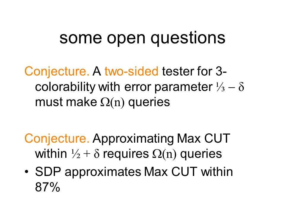 some open questions Conjecture.