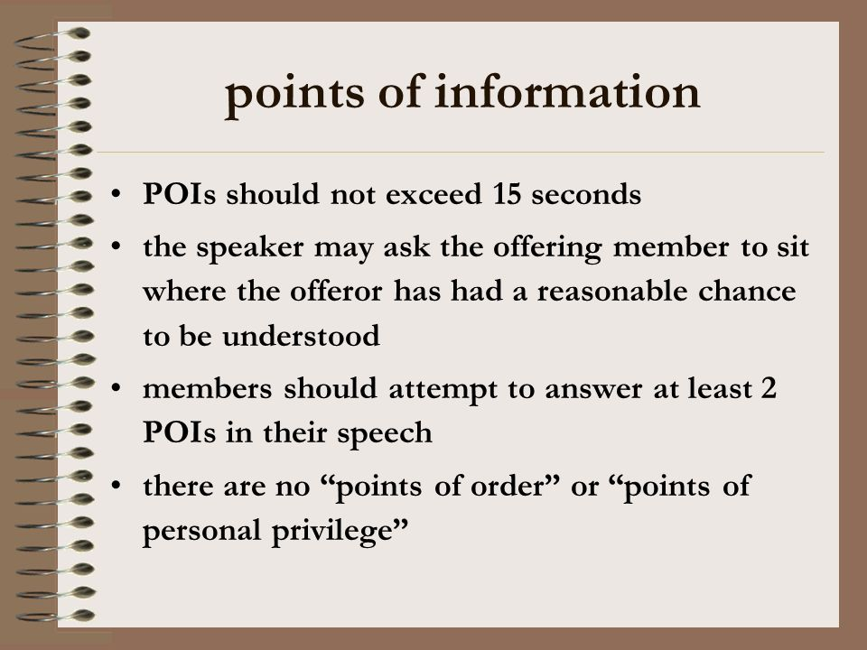 the role of teams in the debate 2 nd govt –introduce new material consistent with 1 st govt –e.g.