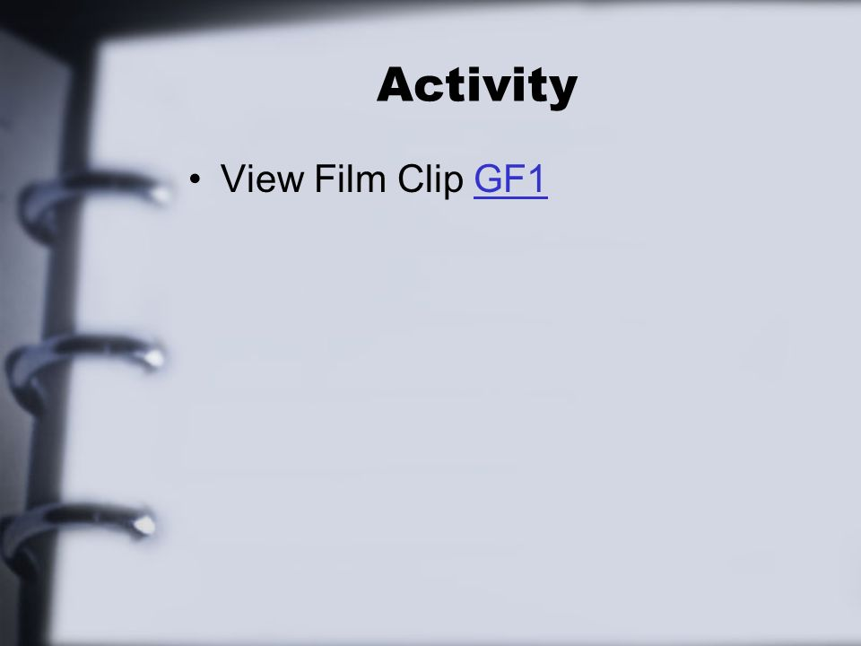 Activity View Film Clip GF1GF1