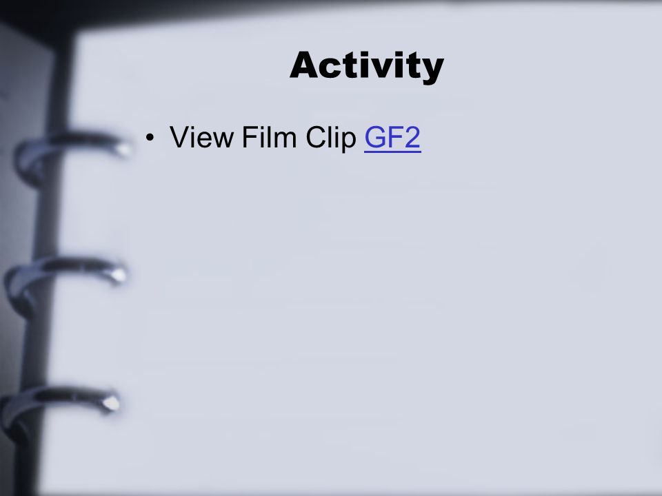 Activity View Film Clip GF2GF2
