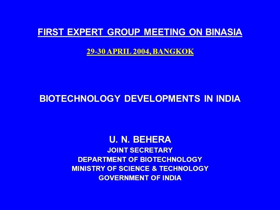 Developments in Biotechnology One of the most important disciplines Radical transformation in the fields of (a) agriculture (b) health care (c) industry (d) environment management basic and applied research essential