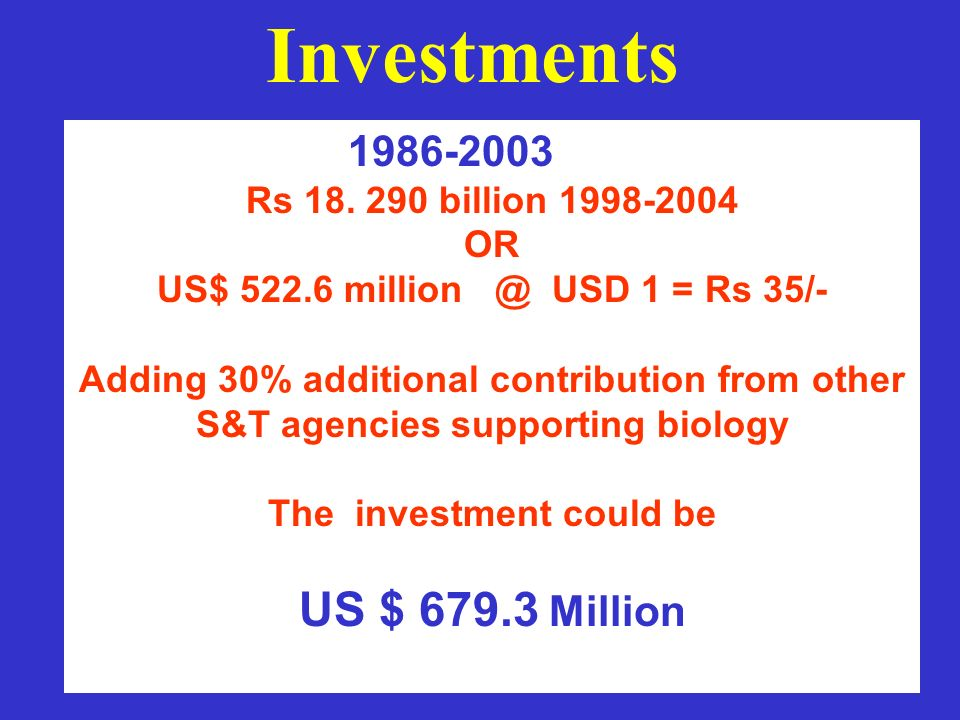 CORE ACTIVITIES These activities form the basic necessities for implementation of biotechnology programmes and their development in the country both from the viewpoint of application and commercialization.