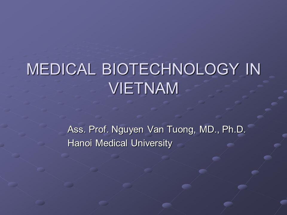 MEDICAL BIOTECHNOLOGY IN VIETNAM Ass. Prof. Nguyen Van Tuong, MD., Ph.D. Hanoi Medical University