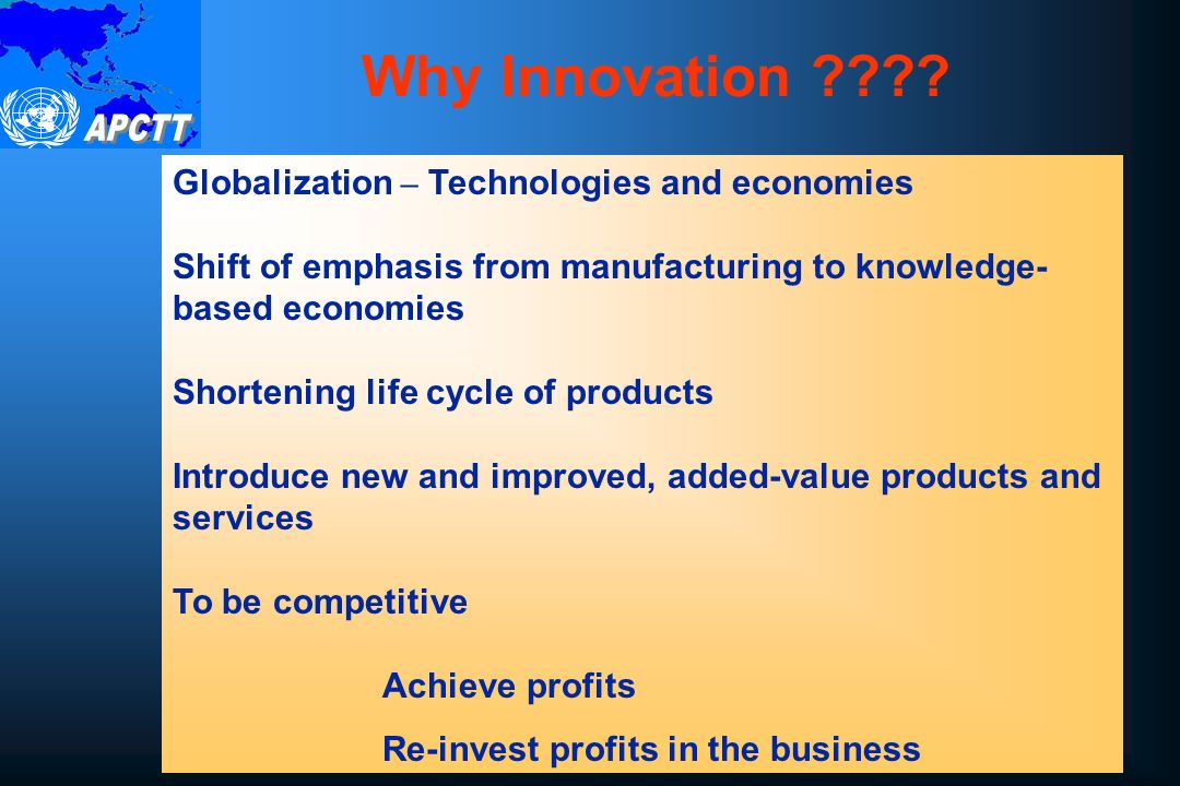 Why Innovation .