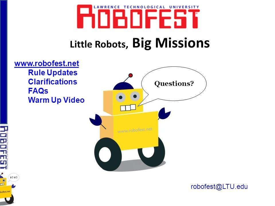 Little Robots, Big Missions Questions.