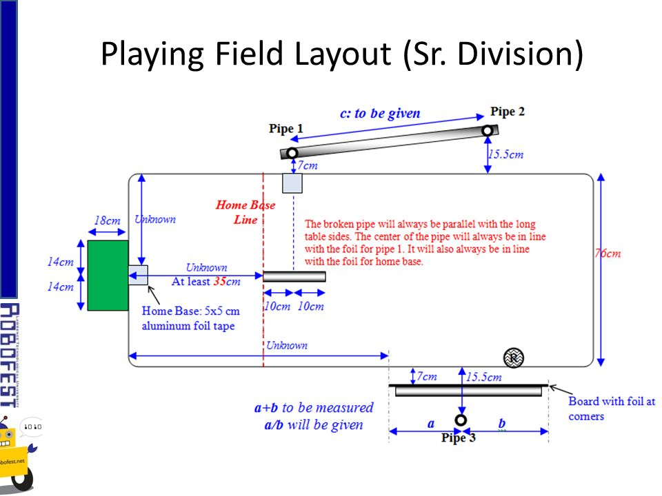 Playing Field Layout (Sr. Division)