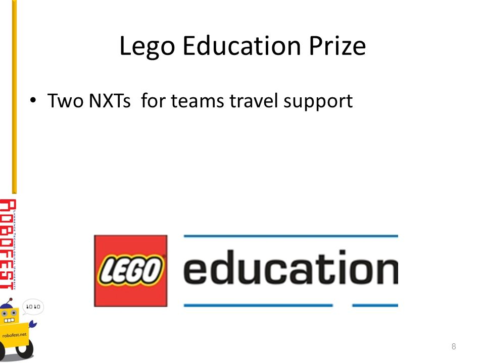 Lego Education Prize Two NXTs for teams travel support 8