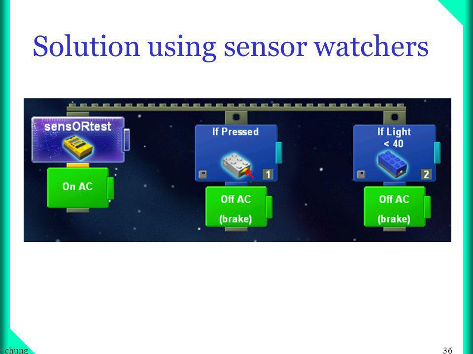 36chung Solution using sensor watchers