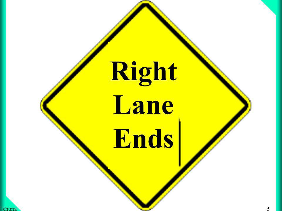 5chung Right Lane Ends