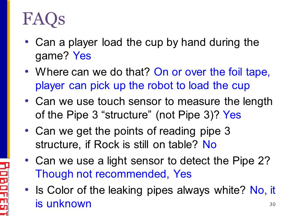 Can a player load the cup by hand during the game.