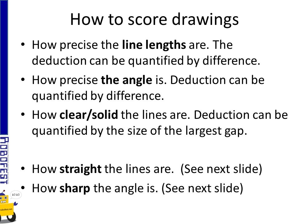 How precise the line lengths are. The deduction can be quantified by difference.