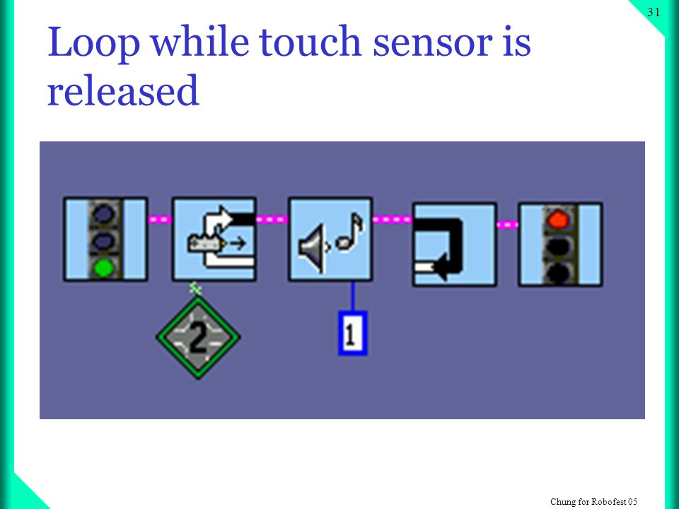 Chung for Robofest Loop while touch sensor is released