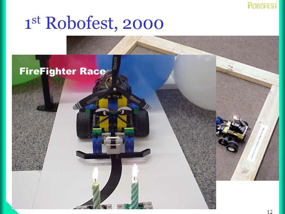 12 1 st Robofest, 2000 RoboTag FireFighter Race