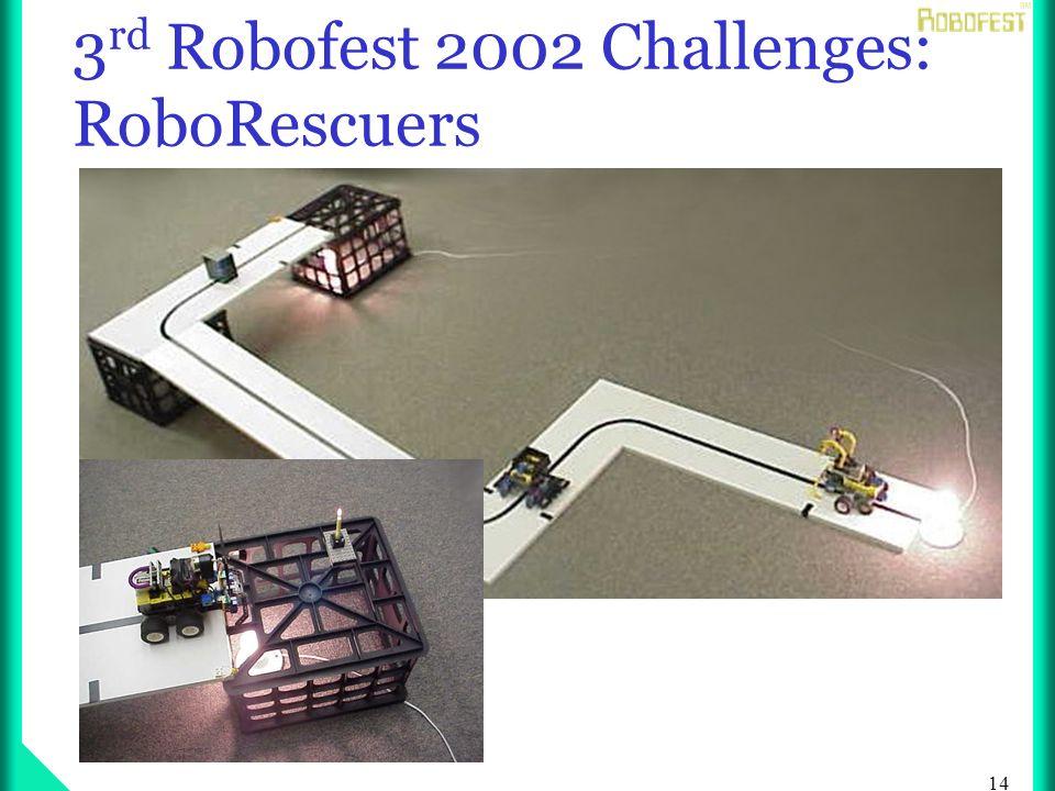 14 3 rd Robofest 2002 Challenges: RoboRescuers