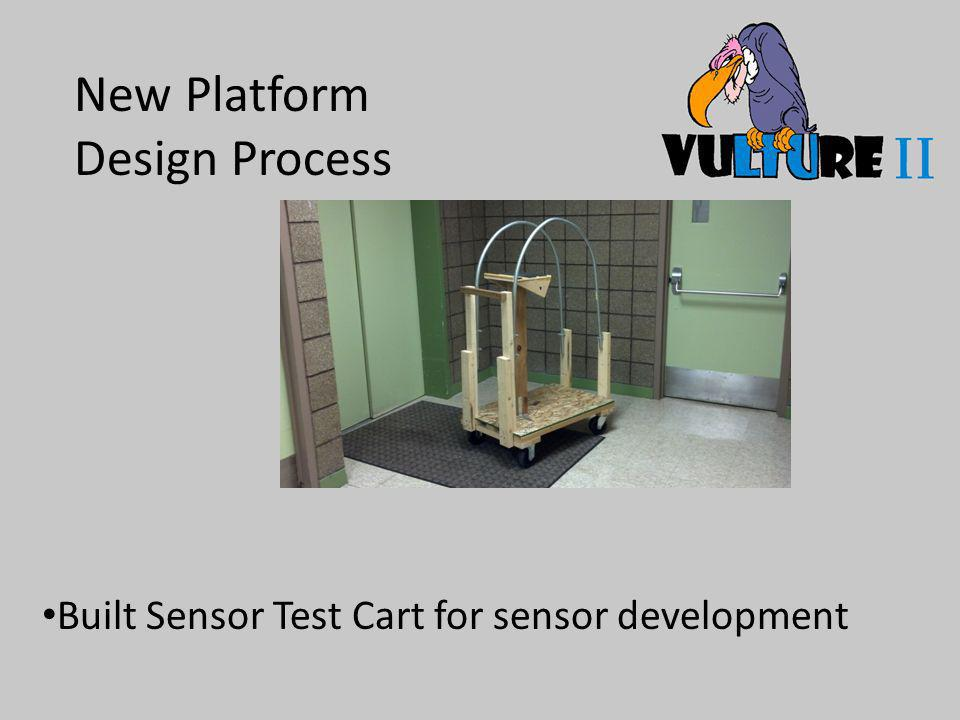 New Platform Design Process Built Sensor Test Cart for sensor development