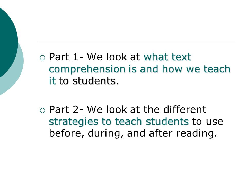 Text Comprehension Practices for Students who are Deaf or Hard of Hearing: Part 1 Susan R.