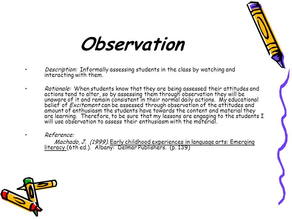 Observation Description: Informally assessing students in the class by watching and interacting with them.