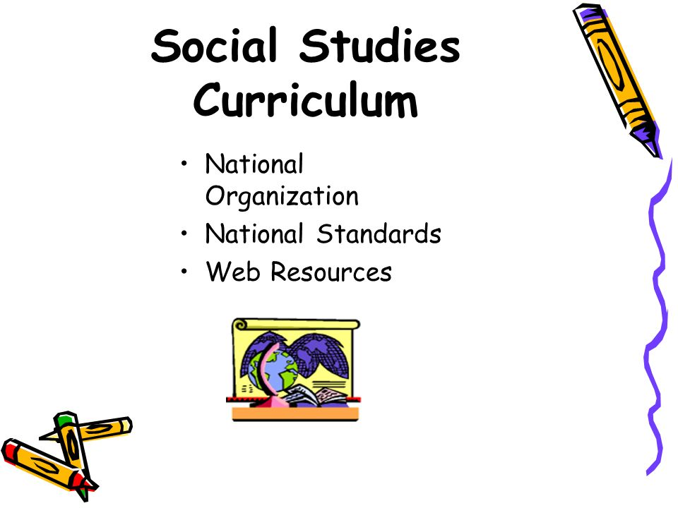 Social Studies Curriculum National Organization National Standards Web Resources
