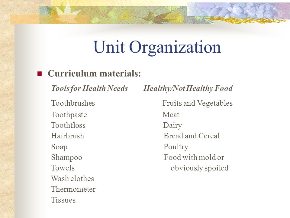 Unit Organization Number of classes: 4-5 Length of classes: Approximately 20 min Number of students: 15 Language and cognitive goals for one student in the class: Language Goal: Increase communicative competence in understanding and being understood Cognitive Goal: Become a more productive and efficient learner by asking a peer for confirmation rather than always going to the teacher Days I worked on unit: I taught a health unit for two weeks in February.