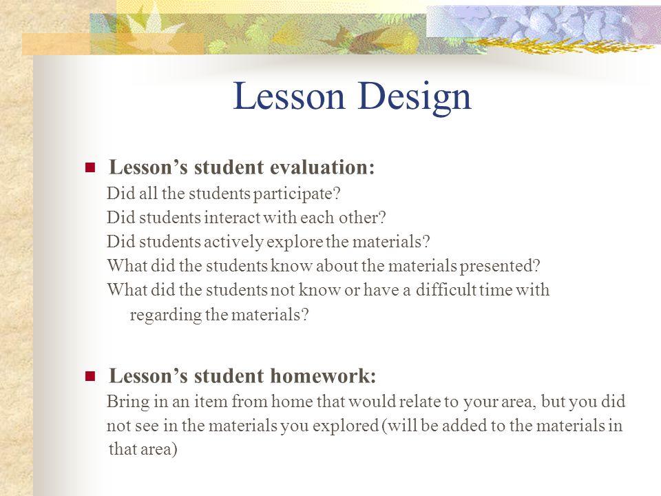 Lesson Design Unit segment: Application Lessons academic objectives: 1.