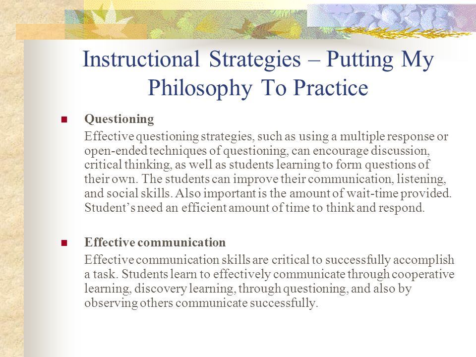 Instructional Strategies – Summary Knowledge grows when teachers cultivate it.