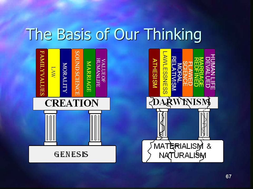 67 The Basis of Our Thinking