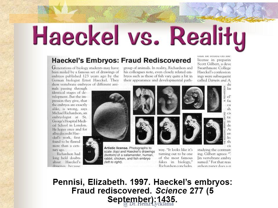 @ Dr.Heinz Lycklama Haeckel vs. Reality Pennisi, Elizabeth.