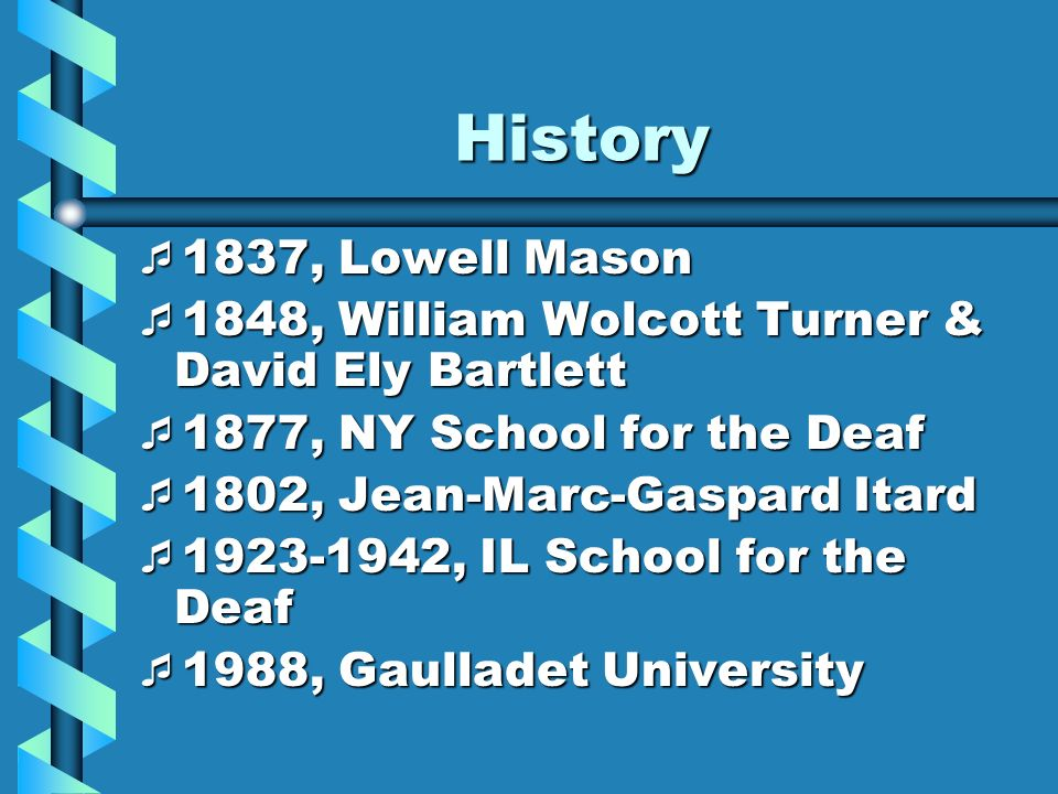 History 1837, Lowell Mason 1837, Lowell Mason 1848, William Wolcott Turner & David Ely Bartlett 1848, William Wolcott Turner & David Ely Bartlett 1877