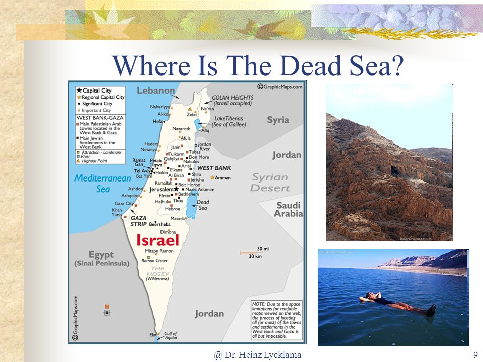 @ Dr. Heinz Lycklama9 Where Is The Dead Sea?