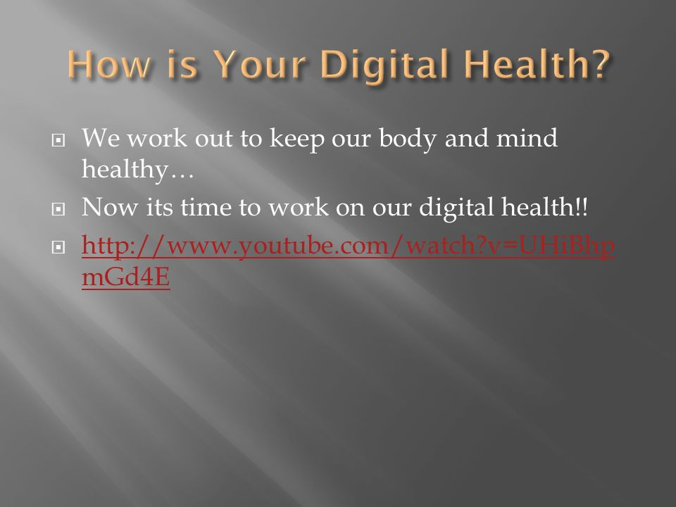 We work out to keep our body and mind healthy… Now its time to work on our digital health!.