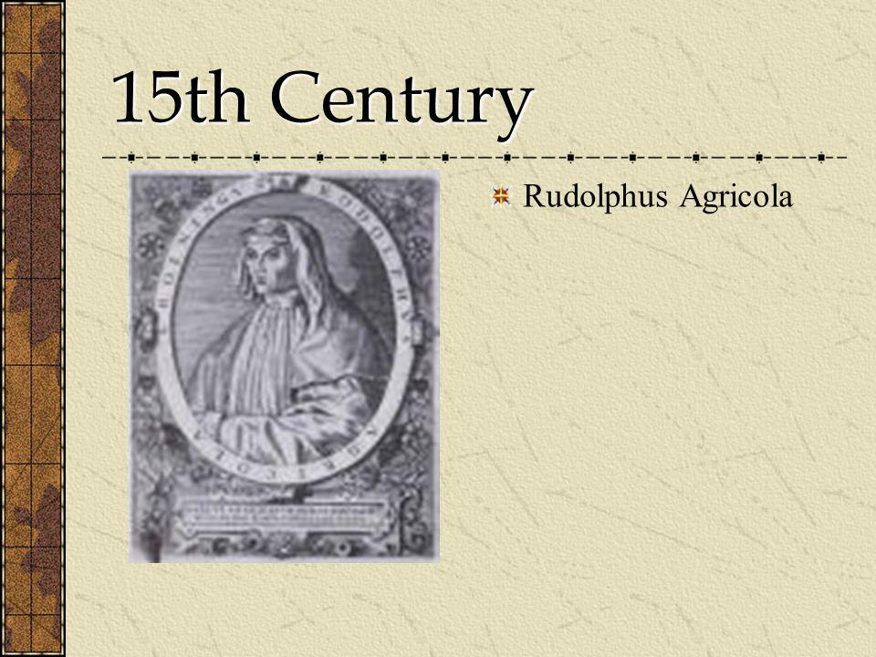 15th Century Rudolphus Agricola