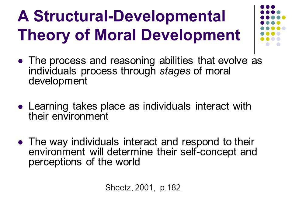 A Structural-Developmental Theory of Moral Development The process and reasoning abilities that evolve as individuals process through stages of moral