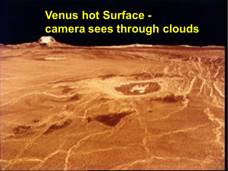 Venus hot Surface - camera sees through clouds