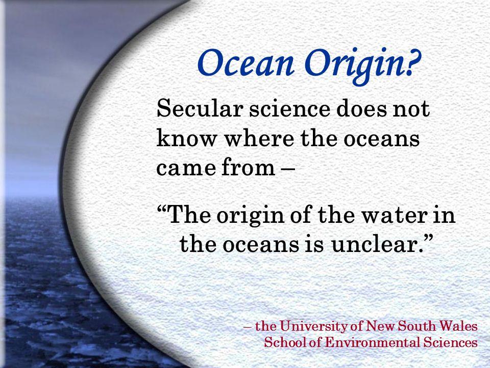 Ocean Origin.