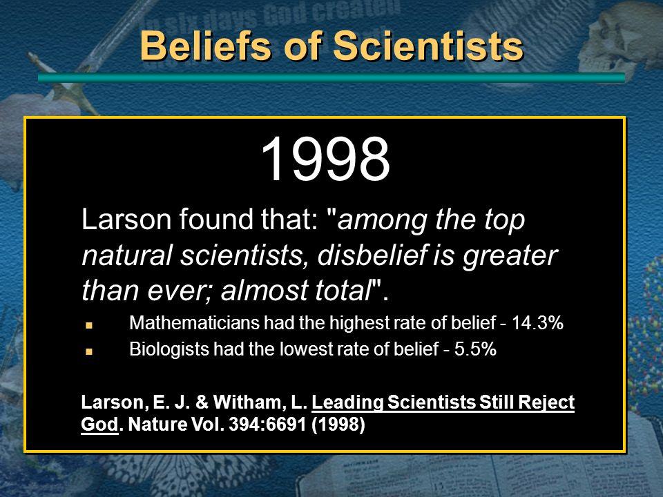 1998 Larson found that: