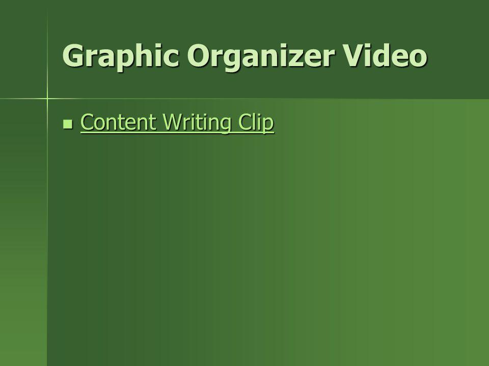 Graphic Organizer Video Content Writing Clip Content Writing Clip Content Writing Clip Content Writing Clip