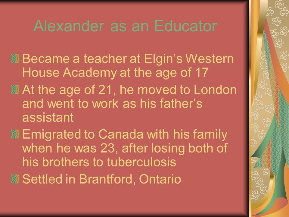 Alexander the Educator Contd.